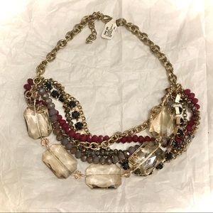 Multi chain and stone necklace